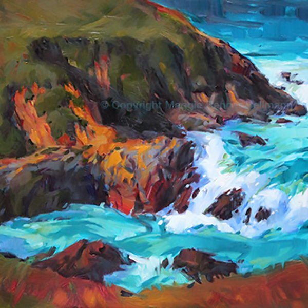 Big Sur Oil Painting  18x24 inch panel