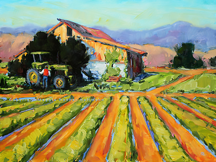 Field to Table Fresh Oil Painting 12x16 panel