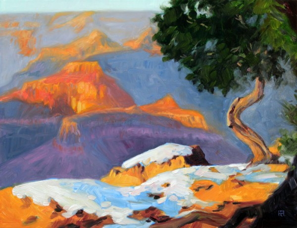 Snow Capped Grand Canyon 11x14 oil