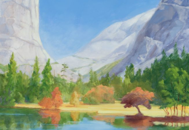 """In Your Dreams,"" Yosemite, oil, 11 x 14 © Skip Andreae all rights reserved"