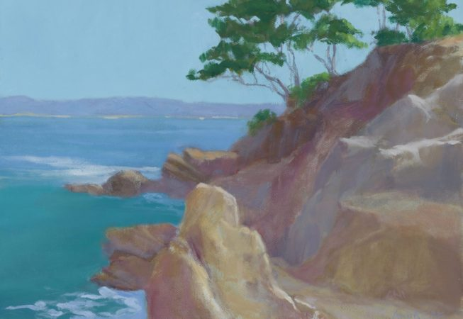 Point Lobos, oil, 9 x 12 © Skip Andreae all rights reserved