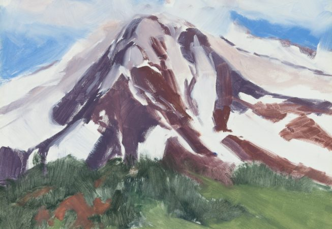 Mount Shasta, oil, 8 x 10 © Skip Andreae all rights reserved